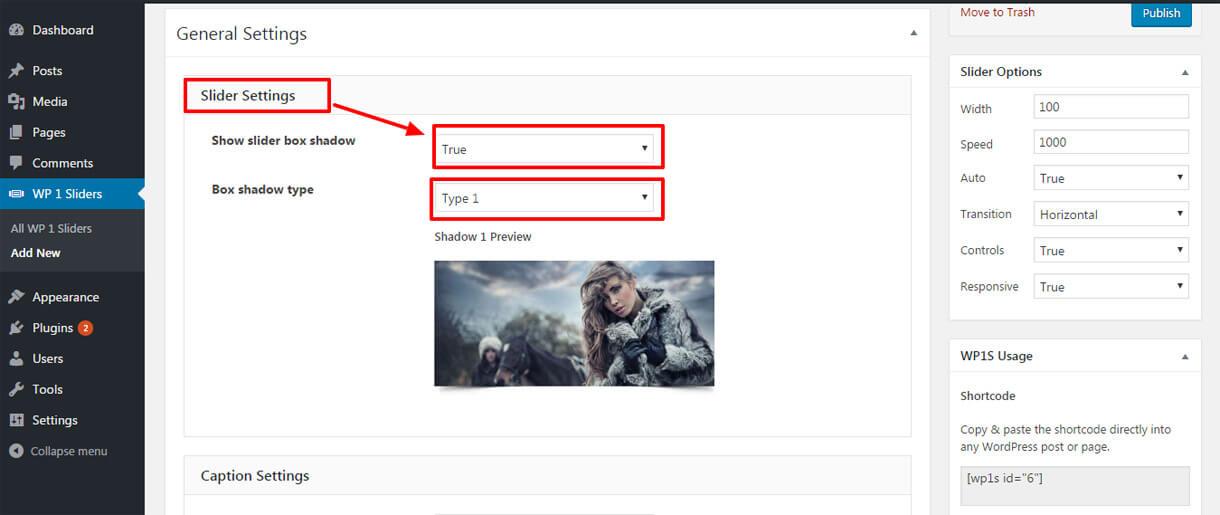 slider settings 1 - Best Free Responsive WordPress Slider Plugin 2019 - WP 1 Slider