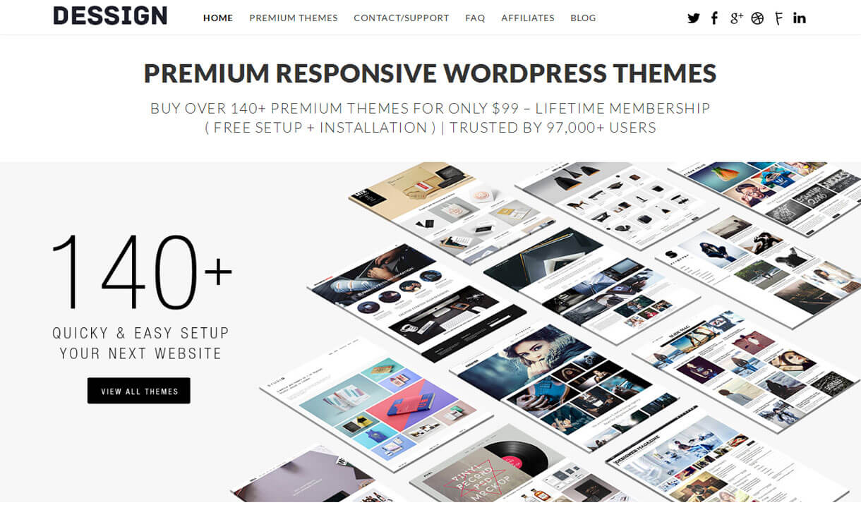 Dessign - Beautiful WordPress Theme Store