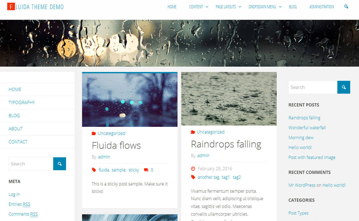 fluida-free-wordpress-theme
