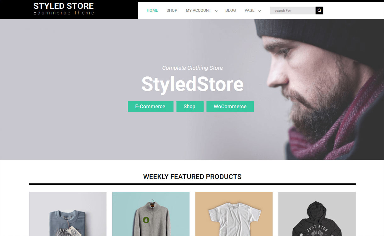 Styled Store - 11+ Best Free Responsive WordPress Themes October 2016