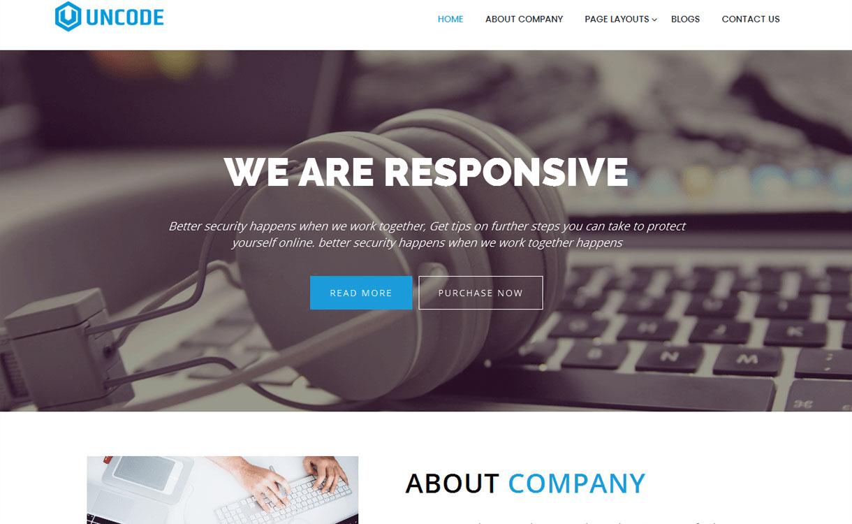 Uncode - Best free WordPress Business Theme 2018