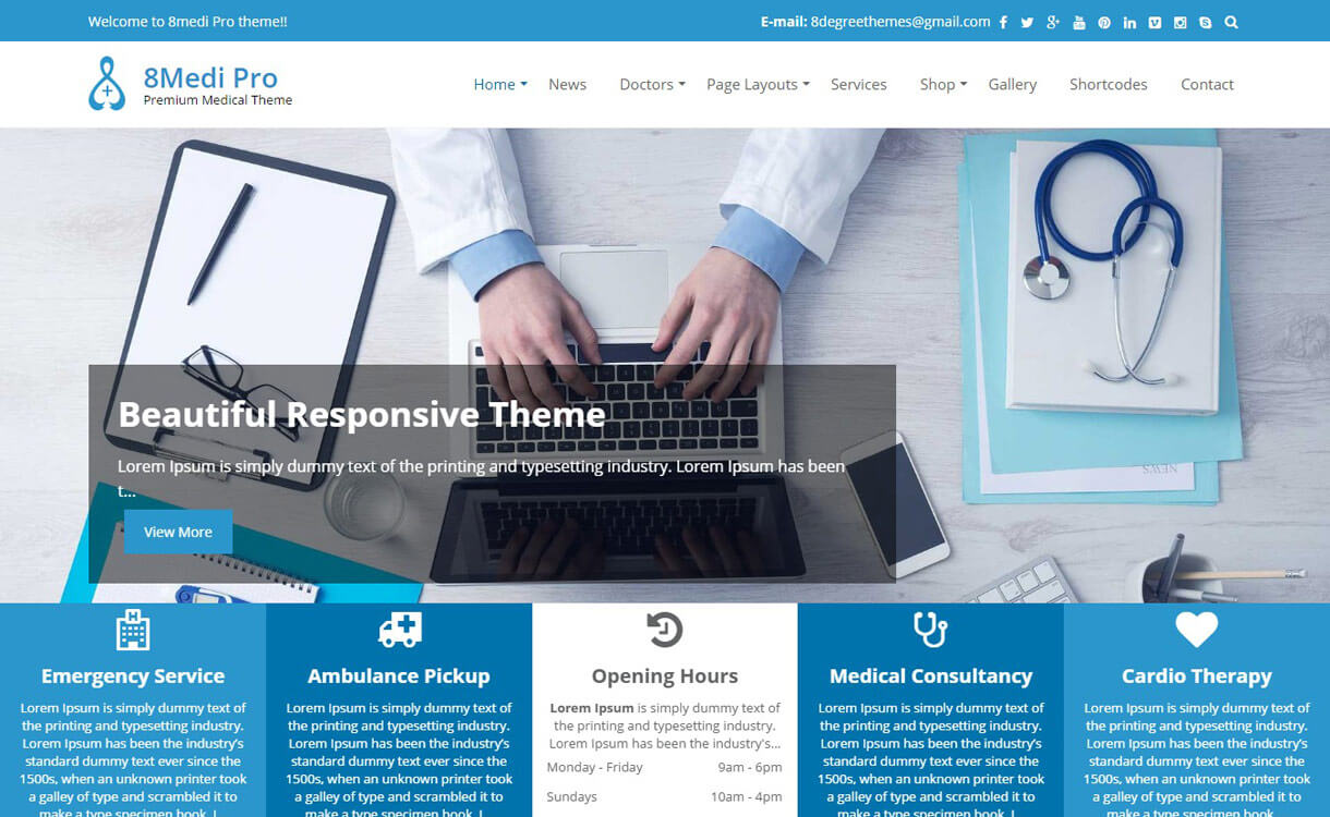 EightMedi Pro - Premium WordPress Medical Theme