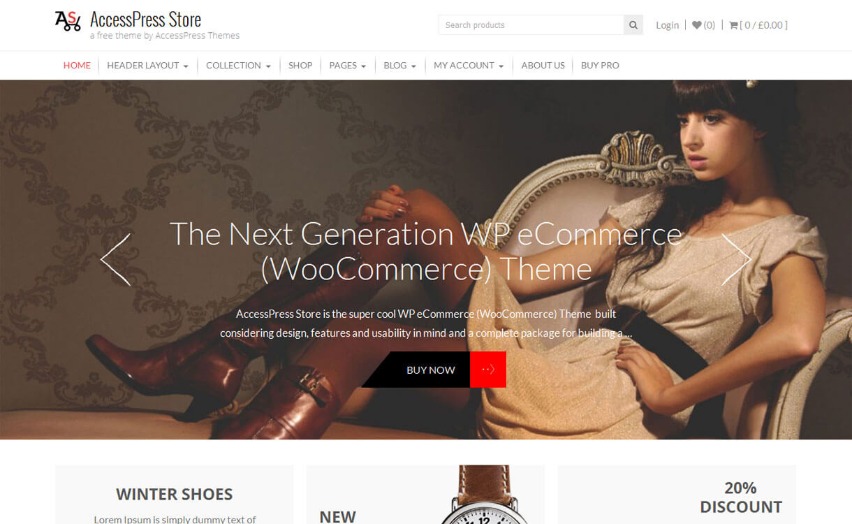 AccessPress Store - 30+ Best Free WordPress eCommerce/WooCommerce Themes for 2019