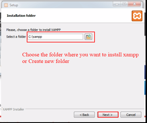 Create folder - How to install WordPress in your Windows Computer