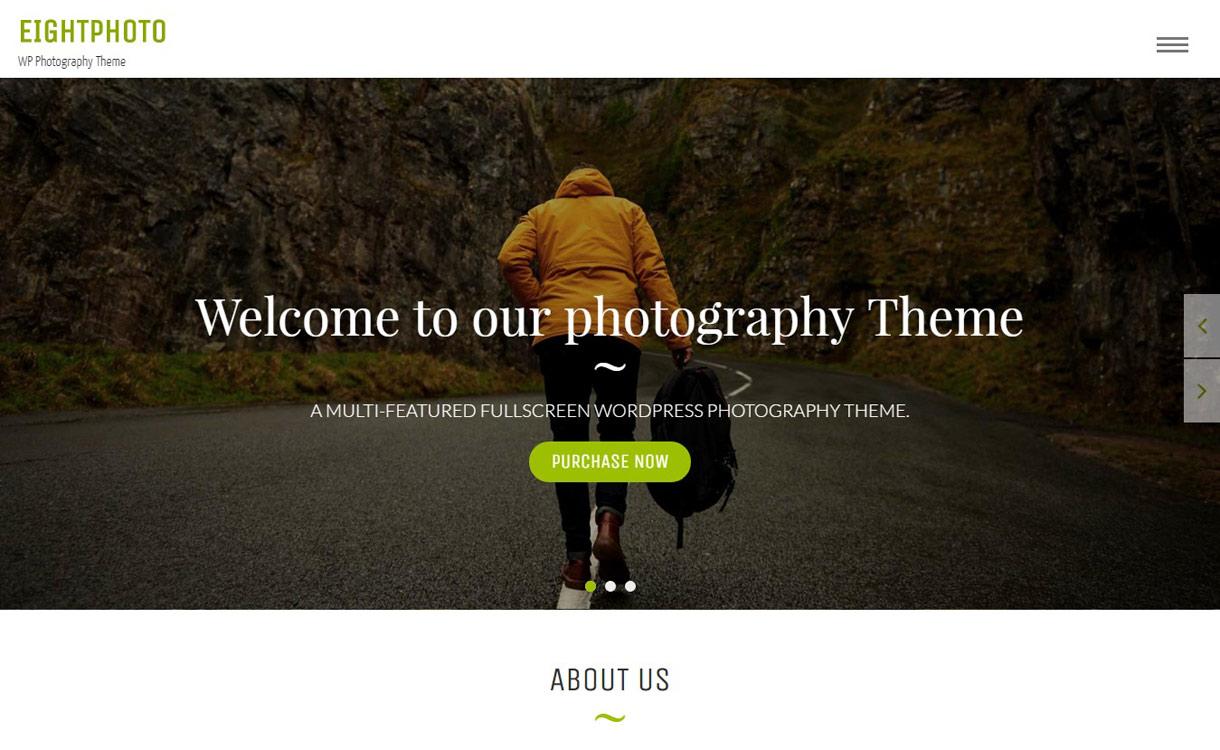 EightPhoto - 11+ Best Free Responsive WordPress Themes November 2016