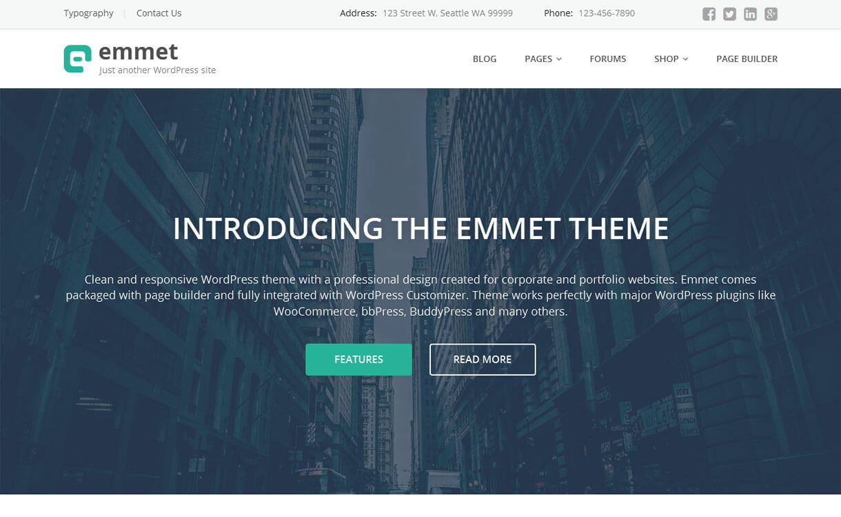 Emmet - 30+ Best Free WordPress eCommerce/WooCommerce Themes for 2019