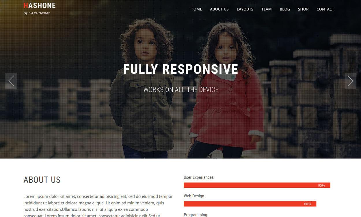 HashOne - 11+ Best Free Responsive WordPress Themes November 2016