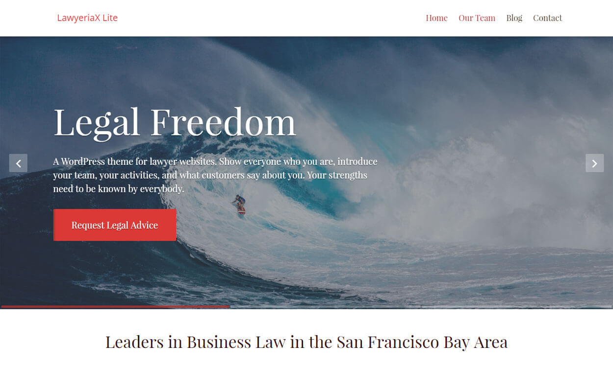 LawyeriaX Lite - 11+ Best Free Responsive WordPress Themes November 2016