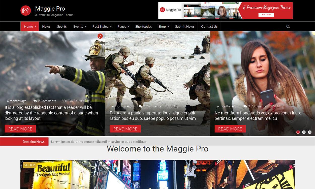 Maggie Pro - Best Premium WordPress News-Magazine, Editorial Themes 2017