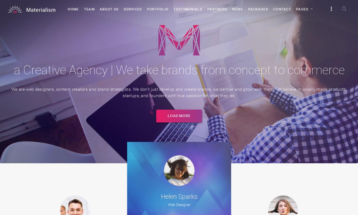 Materialism - Premium Material Design WordPress Theme