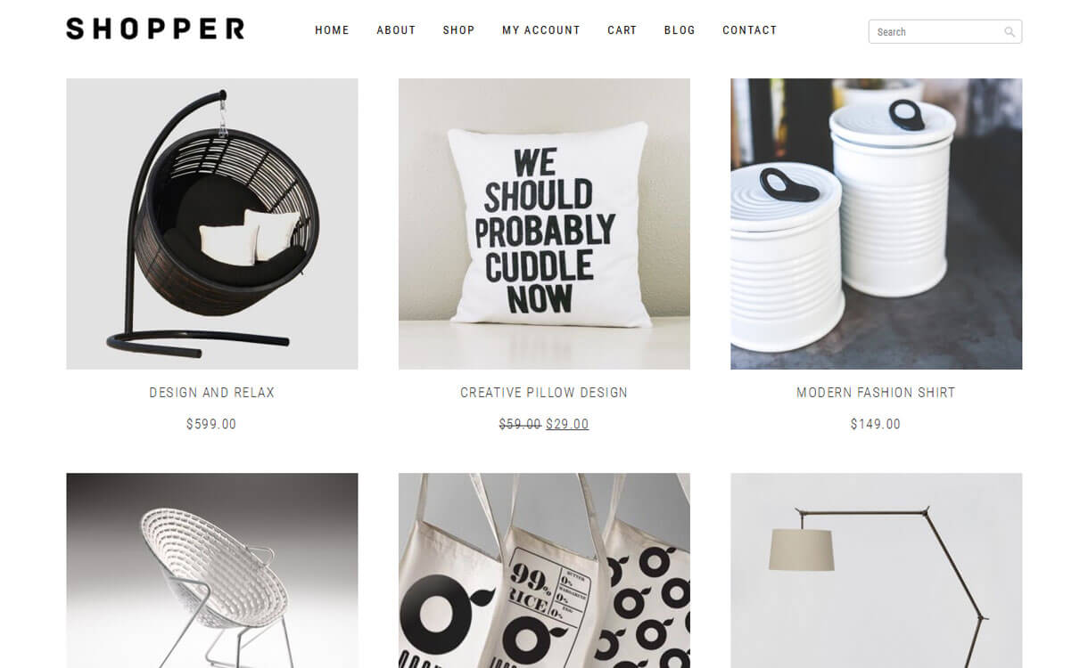 Shopper - 30+ Best Free WordPress eCommerce/WooCommerce Themes for 2020
