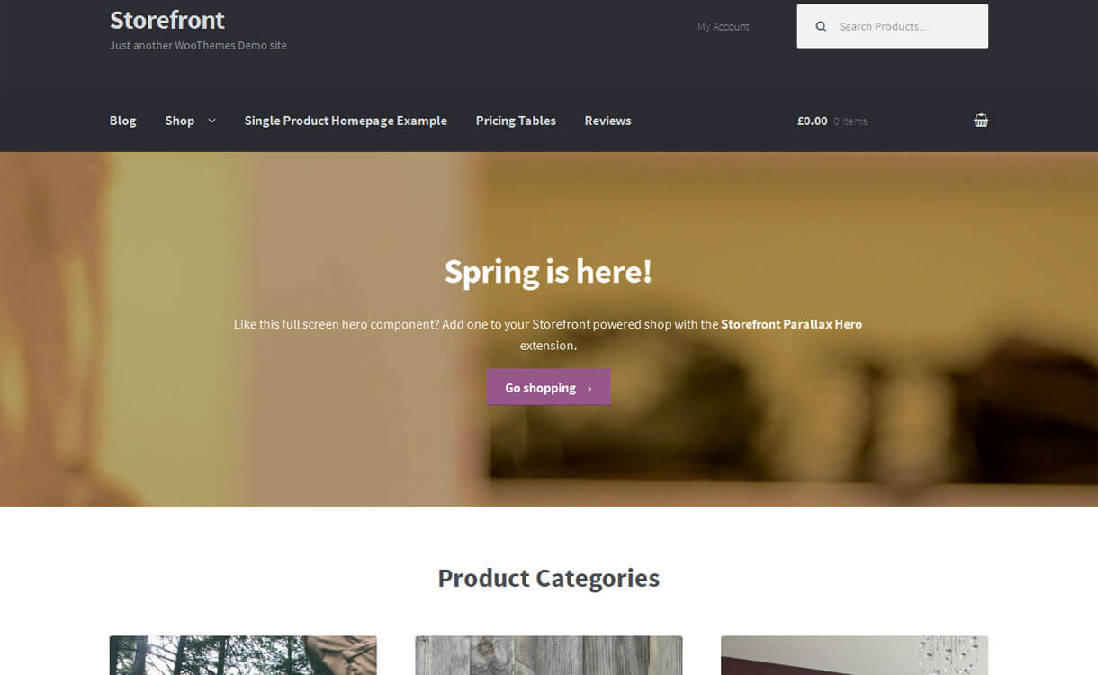 Storefront - 30+ Best Free WordPress eCommerce/WooCommerce Themes for 2020