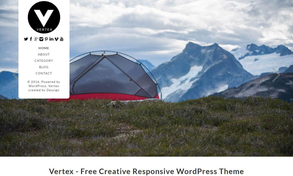 Vertex - Best Free Photography WordPress Theme