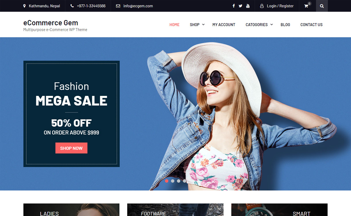 eCommerce Gem - 30+ Best Free WordPress eCommerce/WooCommerce Themes for 2019