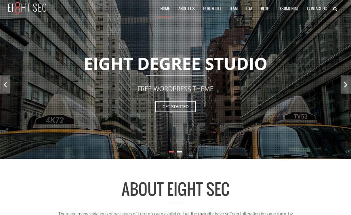 Eight Sec - Best free WordPress Business Theme 2018