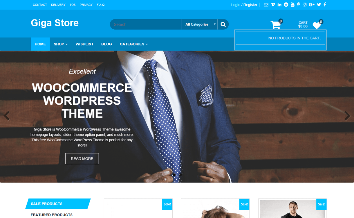 giga store best free ecommerce wordpress themes - 30+ Best Free WordPress eCommerce/WooCommerce Themes for 2019
