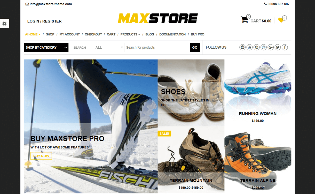 maxstore best free ecommerce wordpres themes - 30+ Best Free WordPress eCommerce/WooCommerce Themes for 2019
