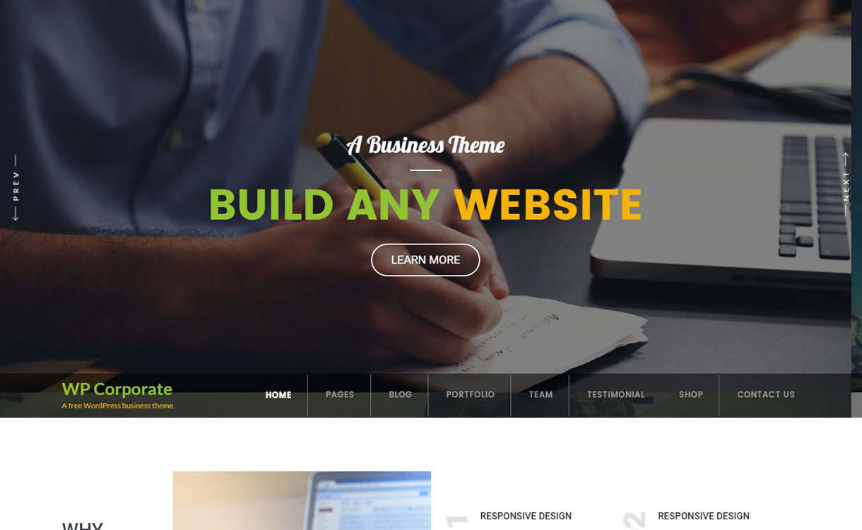 WP Corporate -Best free WordPress Business Theme 2017
