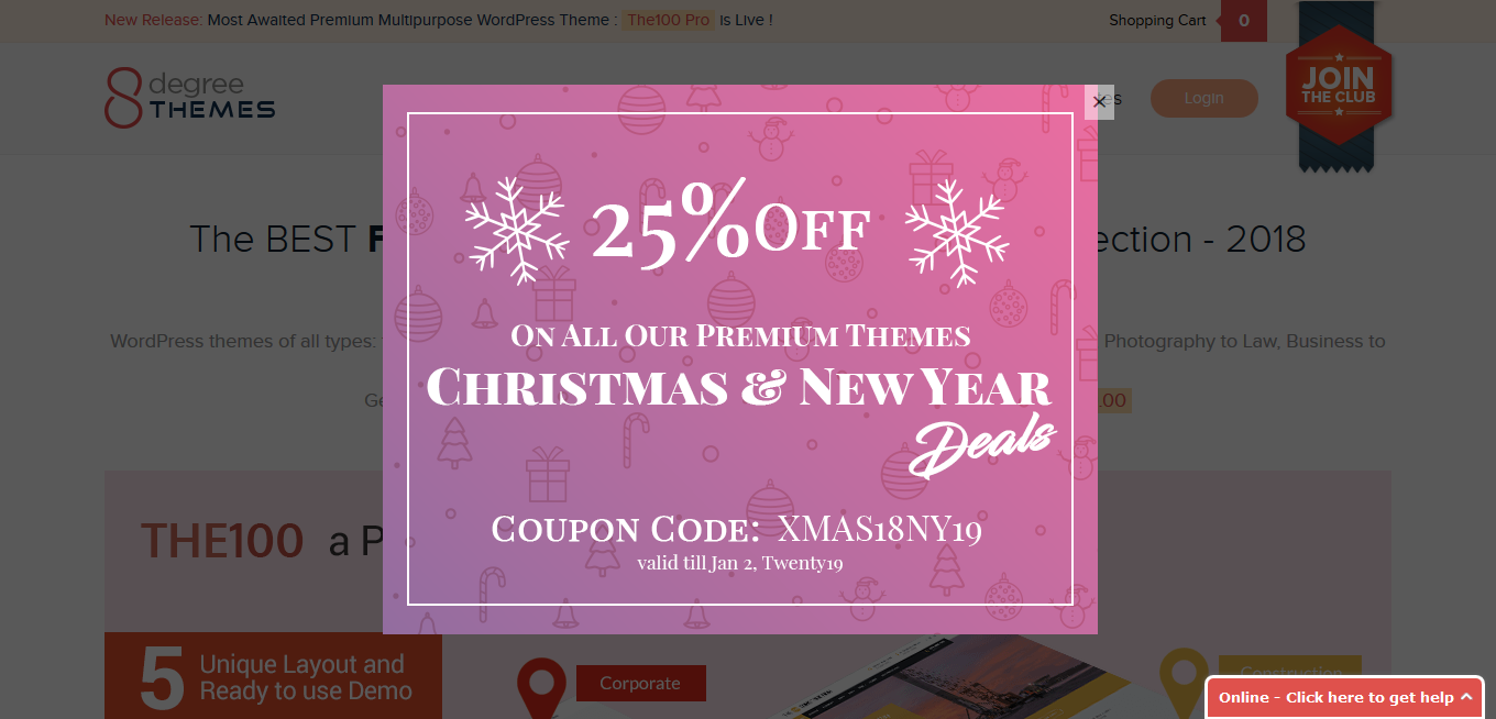 8degree christmas deals - Best WordPress Deals for Christmas and New Year 2019