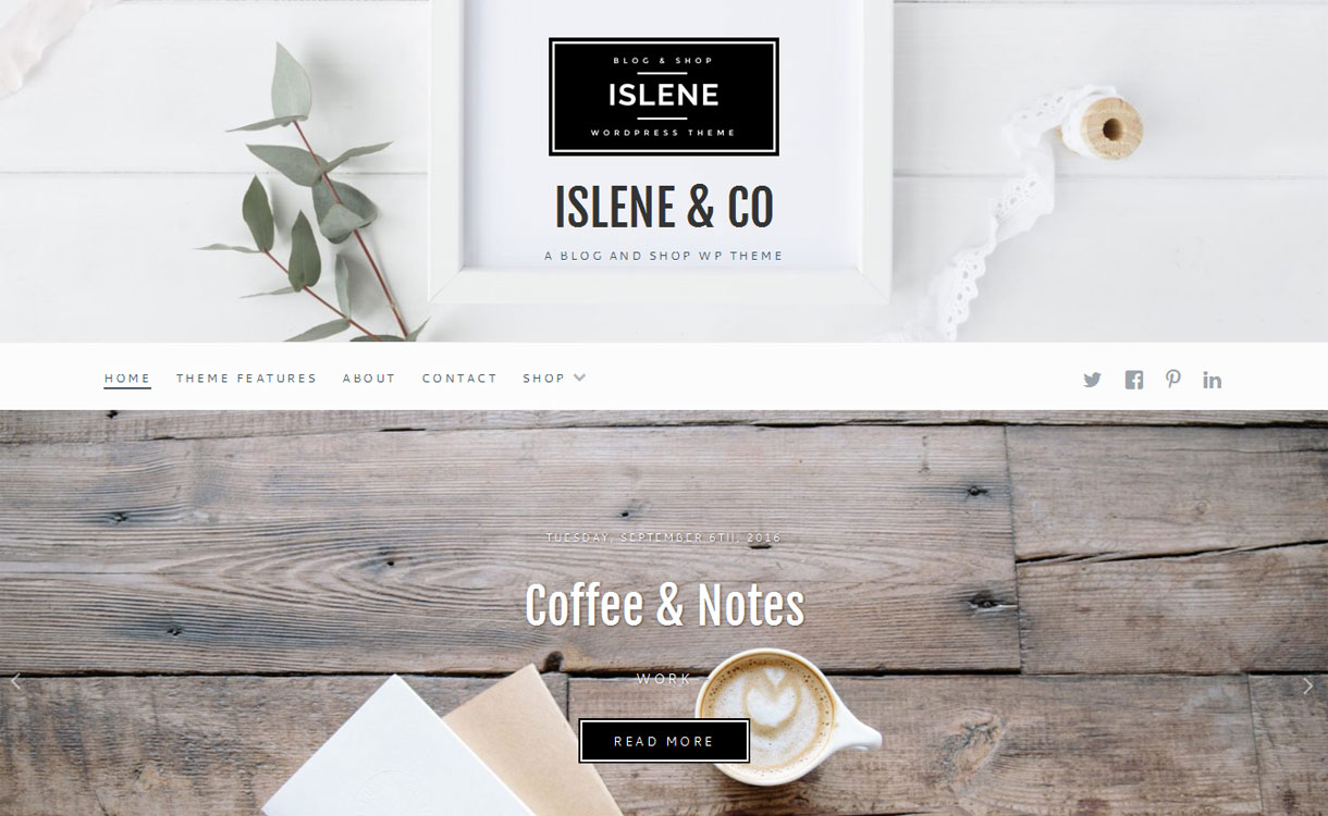 Download Islene - Premium WordPress Blogging Theme