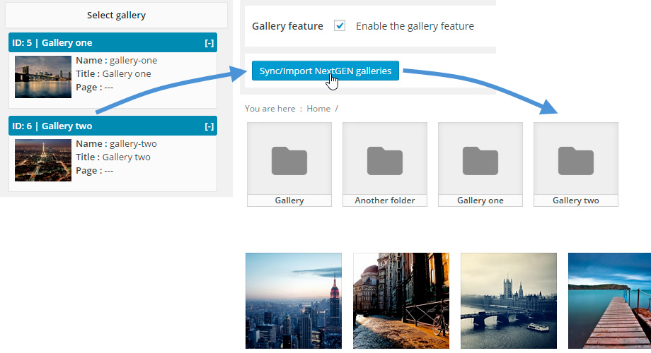WP Media Folder feature - Nextgen-gallery-importer