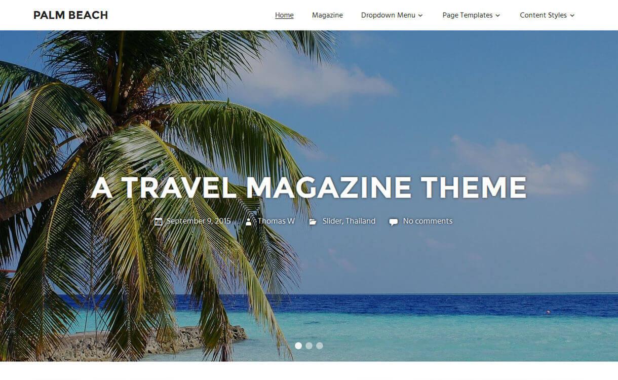 palm-beach -Best free WordPress Themes December 2018