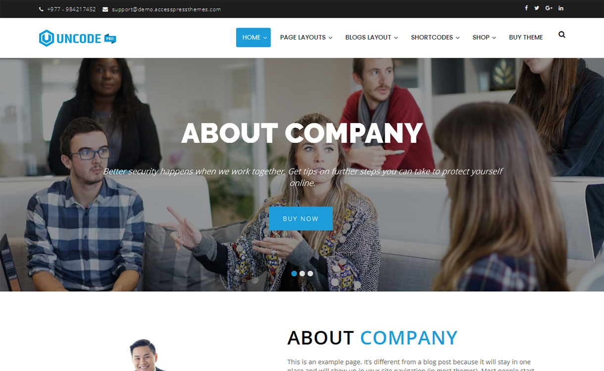 Uncode Pro - 30+ Best Premium WordPress Business/Agency Themes for 2019