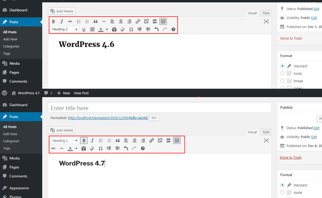 WordPress 4.7 feature Editor imporvements.