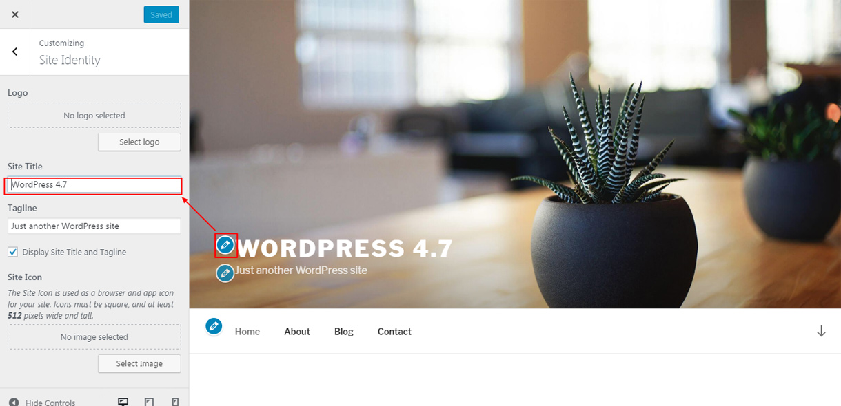 WordPress 4.7 feature - Live edit shortcut