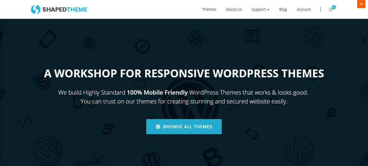 shapedtheme - 30+ Best Free WordPress Personal/Professional Blog Themes for 2019