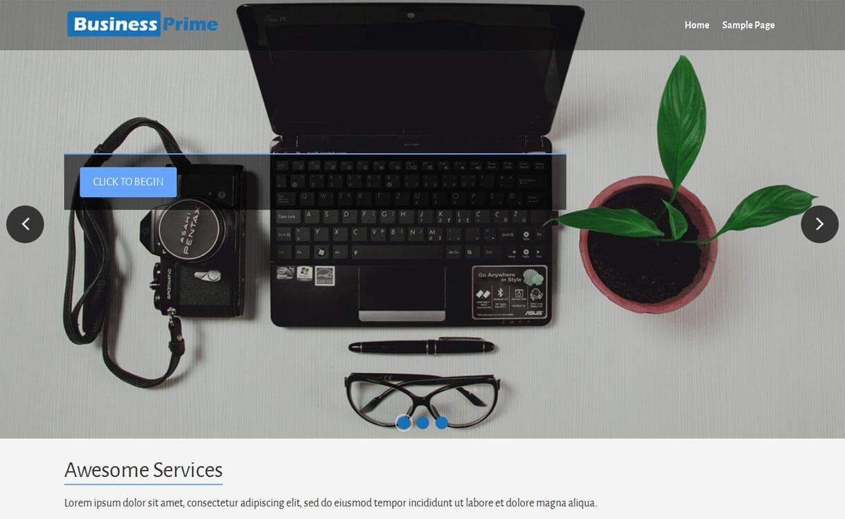Business Prime - Best free WordPress Business Theme 2018