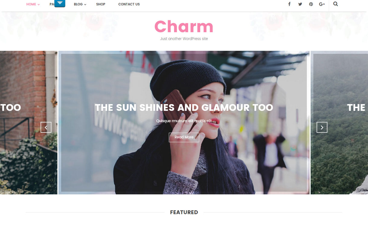 Charm - Premium Blogging WordPress Theme