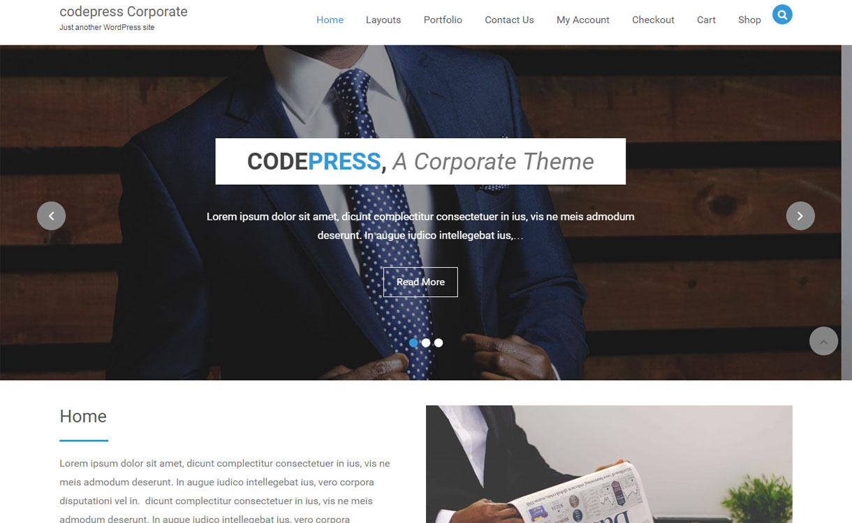 Codepress Corporate - Free Multipurpose WordPress Theme