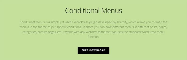 Conditional Menus - Simple Free WordPress Plugin