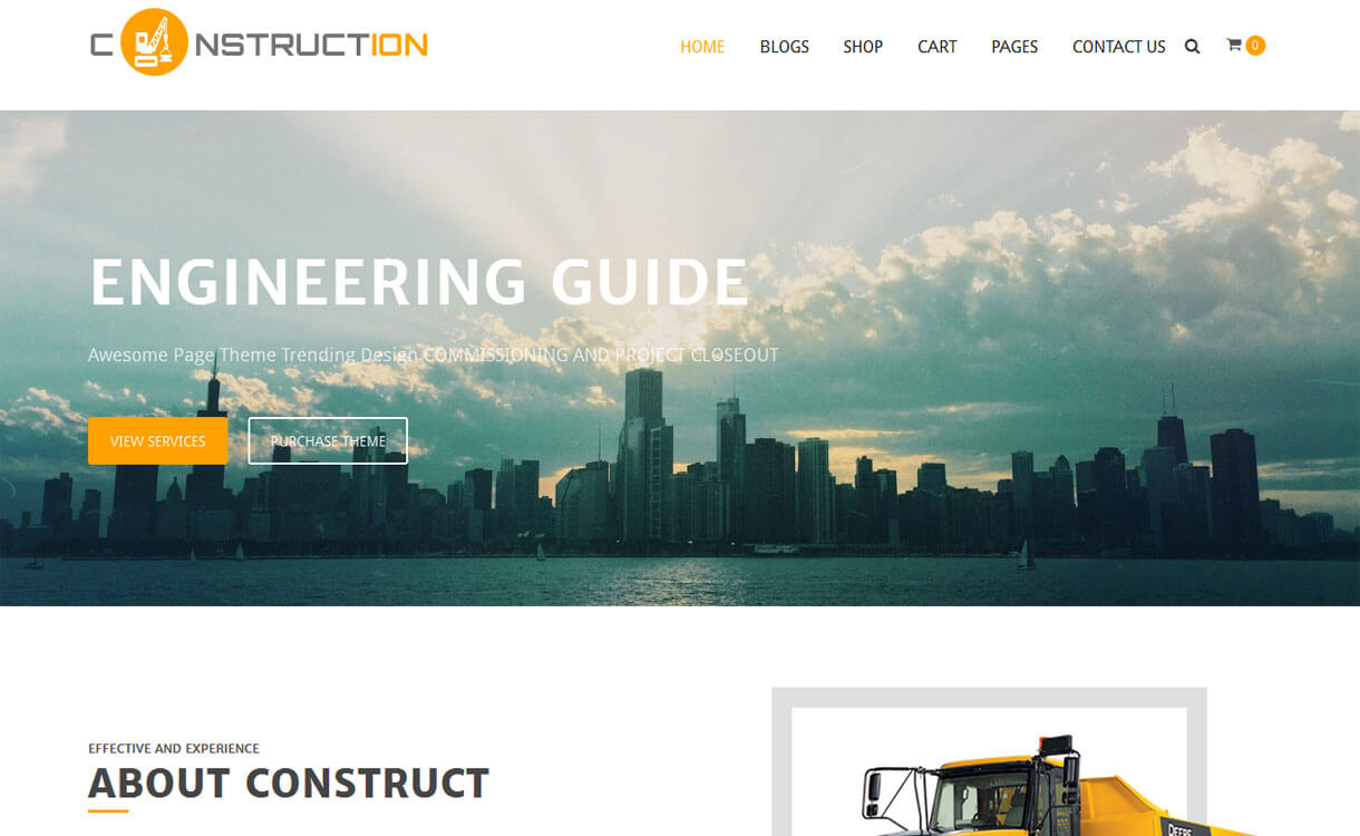 Construction - 20+ Best Free WordPress Construction Company Themes for 2019