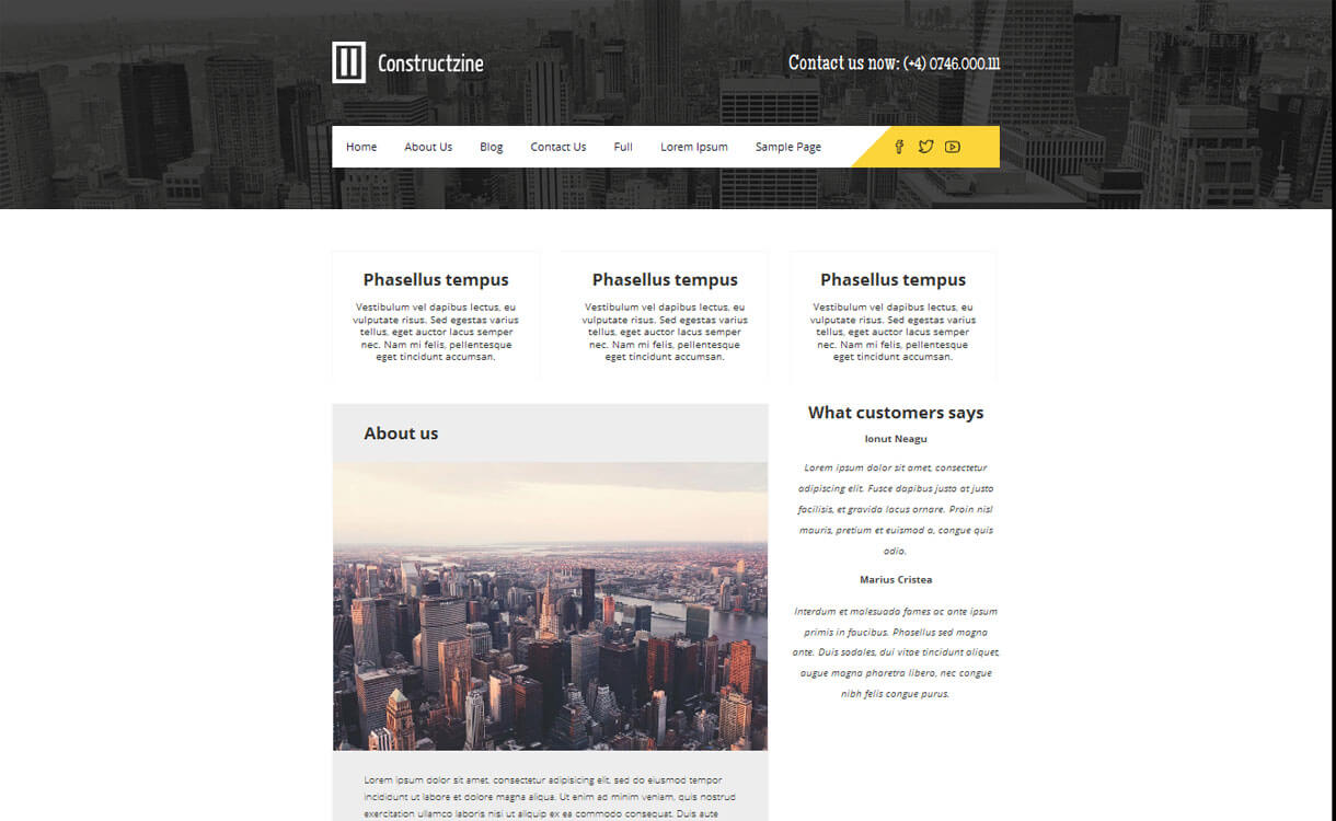 Constructzine - 20+ Best Free WordPress Construction Company Themes for 2019