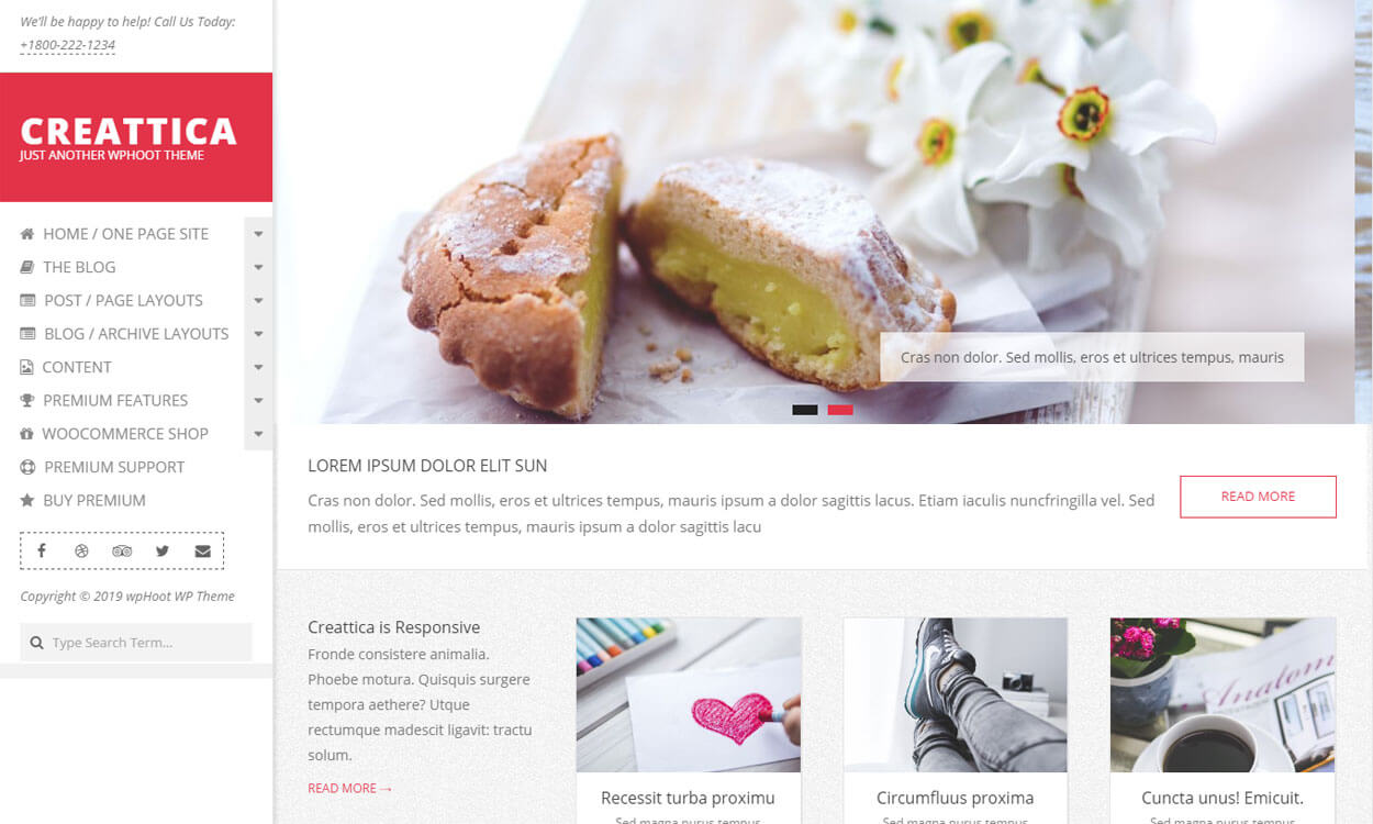 Creattica - Free WordPress Blog Theme