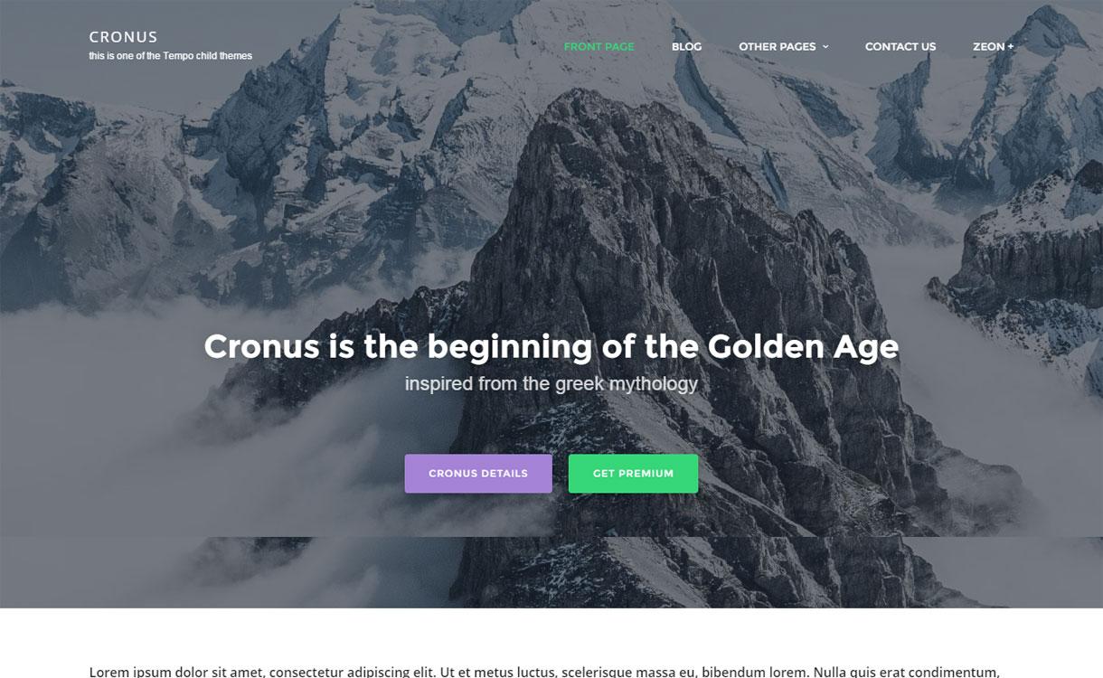 Cronus - Free Multipurpose WordPress Theme