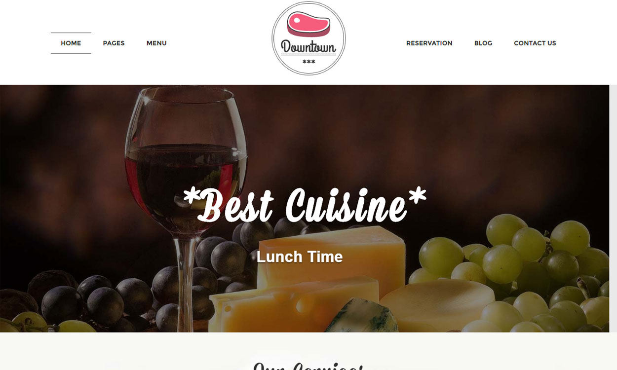 DownTown - Premium Restaurant WordPress Theme