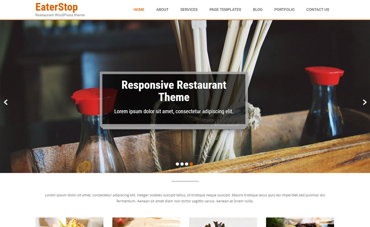 EaterStop - Free Food Blog Theme
