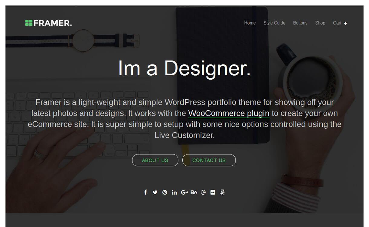 Framer - Best Free WordPress Themes January 2017