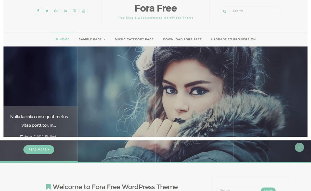 Fora- Free Responsive Blogging Theme