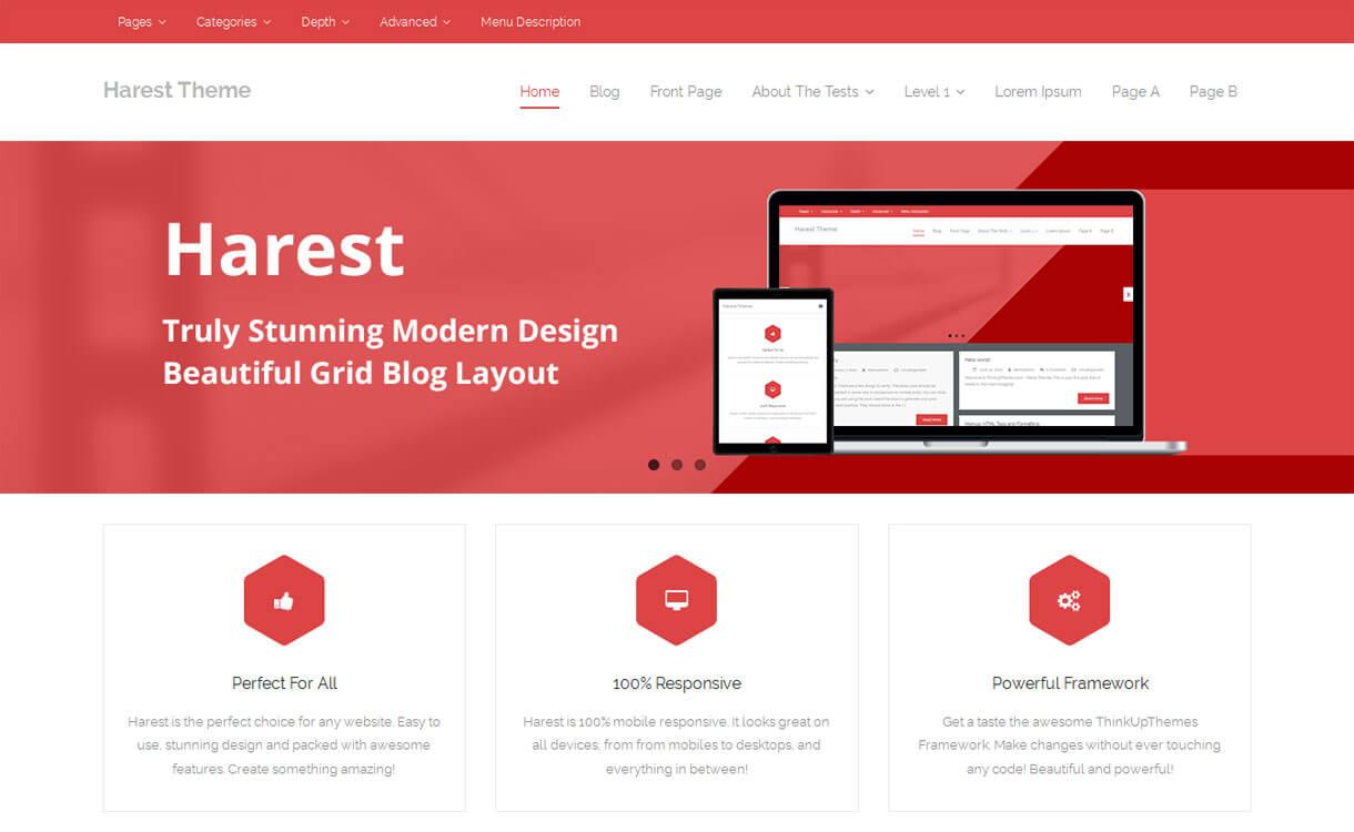 Harest - Best free WordPress Business Theme 2018