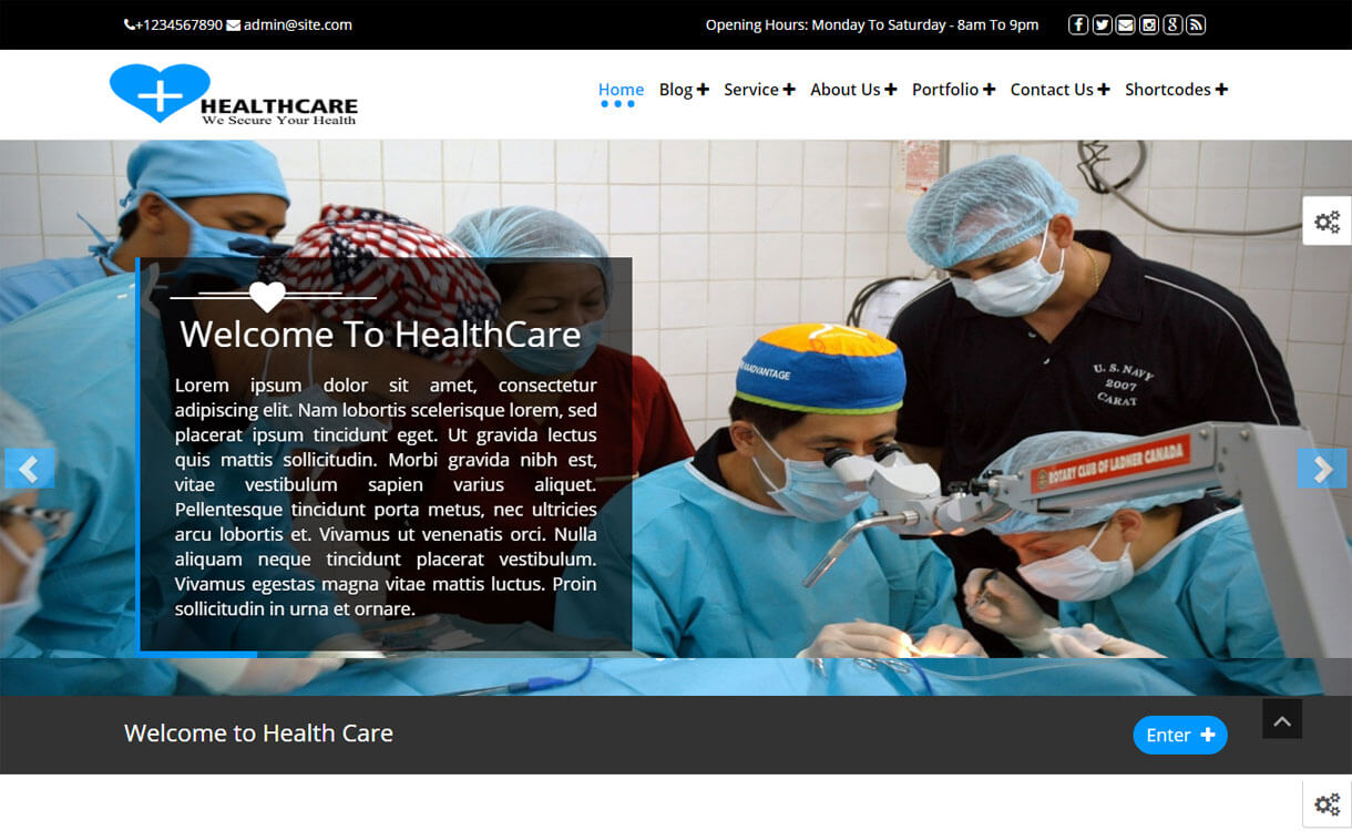 Healthcare - 23+ Best Free WordPress Health and Medical Themes 2019