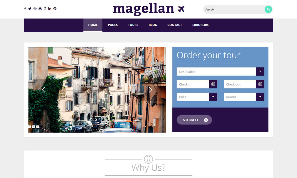 Magellan - Premium Travelling WordPress Theme