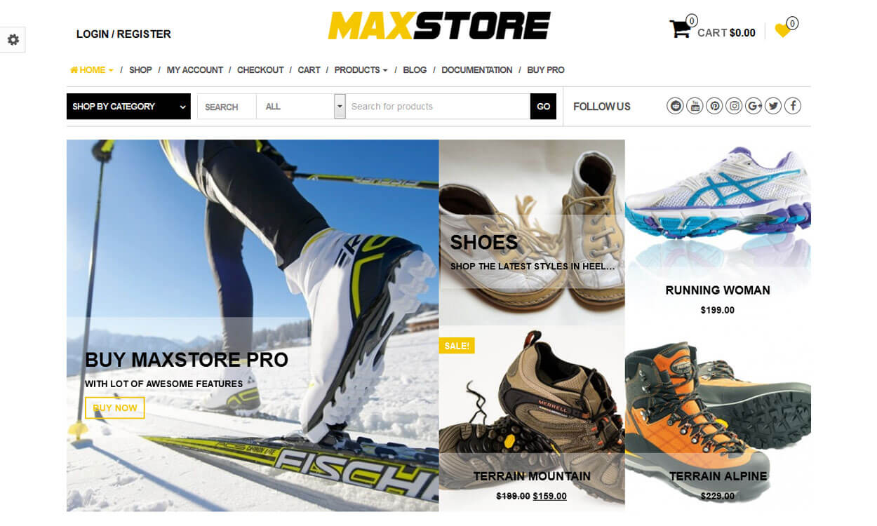 MaxStore - 10+ Best Free WordPress eCommerce/Online Store/WooCommerce Themes for 2019