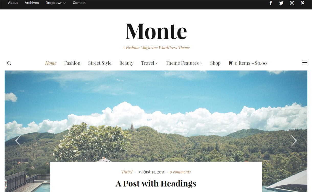Monte - Premium Magazine WordPress Theme