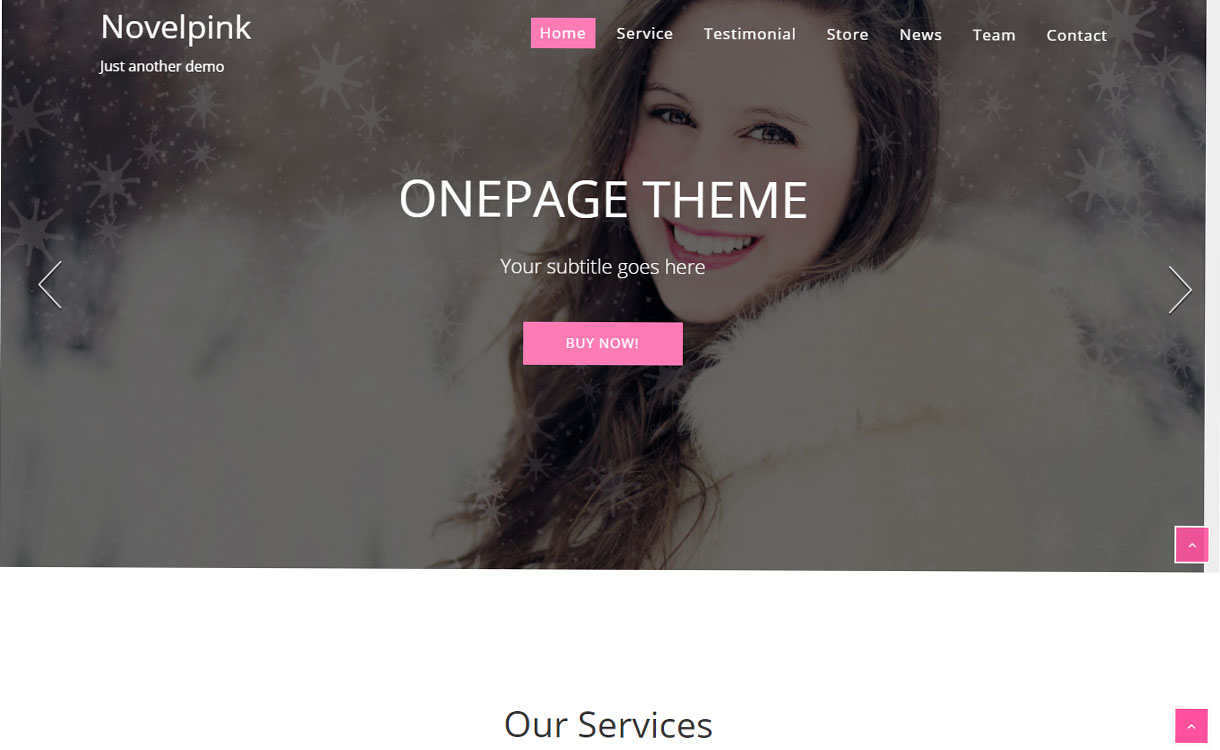 NovelPink - Free One-Page WordPress Theme