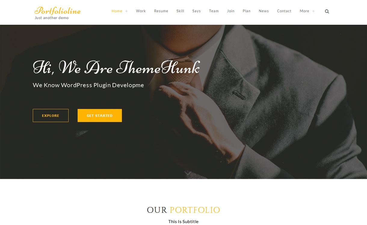 Portfolioline - Premium Multipurpose Showcase Theme
