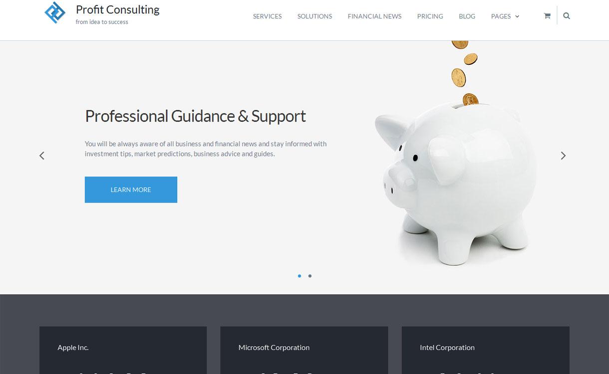 Profit - Free Financial WordPress Themes